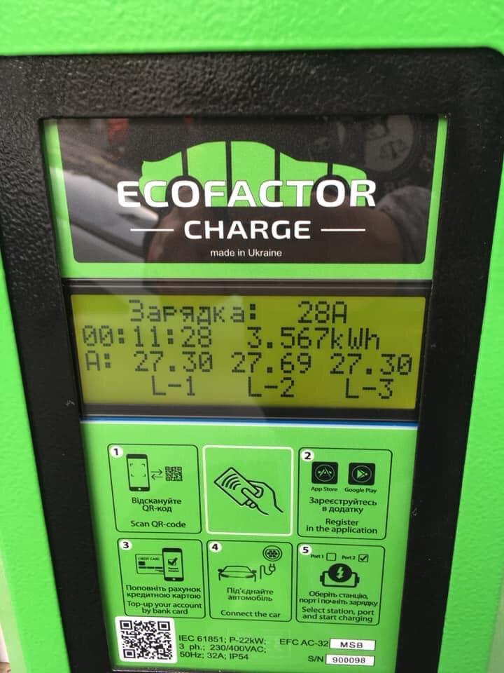 зарядка для електромобілів